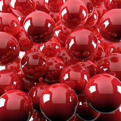 red shiny balls