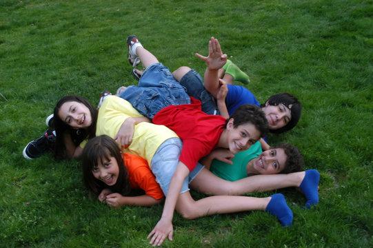 Pile of children