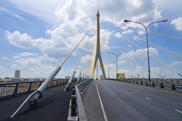 Rama 8th  bridge, Bangkok, Thailand
