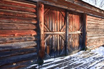 wooden farm barn house