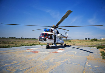 Foto auf Leinwand Hubschrauber helicopter