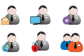 Collection of account management  icon