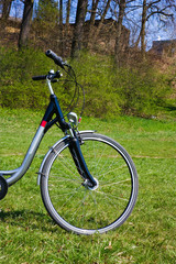 bicycle on the grass, spring