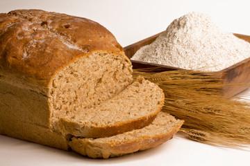 Fotobehang Brood Whole Grain Bread