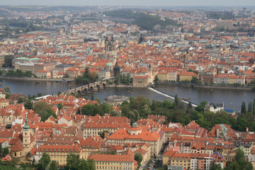 Prague with Vltava River