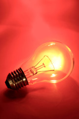 Clear light bulb closeup