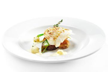 Hot Fish Dishes - Halibut fillet
