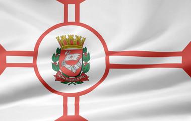Flagge von Sao Paulo Stadt - Brasilien