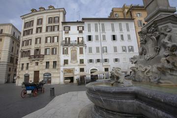 Fontana del Panteon de Agripa, Roma, Italia