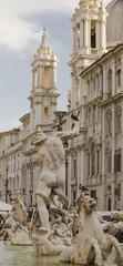Fuente de Neptuno, Iglesia de Sant'Agnese de fondo, Plaza Navona