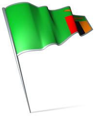 Flag pin - Zambia
