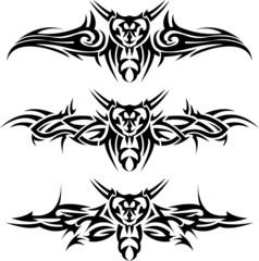Abstract tattoos wasps