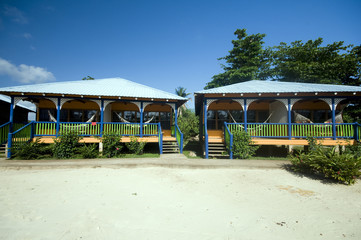 hotel cabanas beach hammocks Corn Island Nicaragua