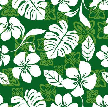 Seamless Aloha Friday Hawaiian Shirt Pattern