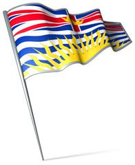 Flag pin - British Columbia (Canada)