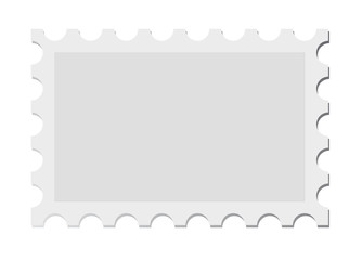 vector post stamp isolated on white