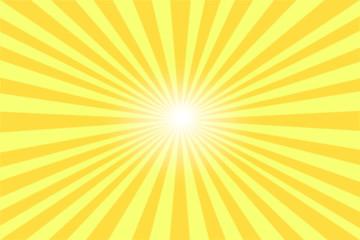 Strahlen gelb mit hellem Zentrum