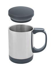 Travel thermal mug cutout