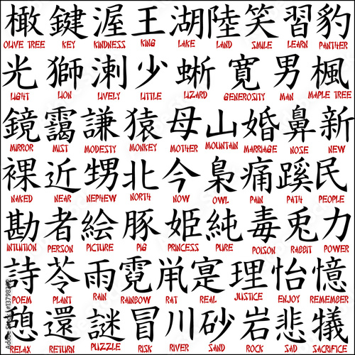 Chinese Symbols Japanese Kanji Stock Image And Royalty Free