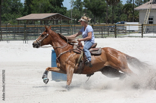 quotcowgirl barrel racingquot stock photo and royaltyfree