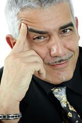 Portrait of mature man thinking