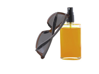 Sunglasses and oil