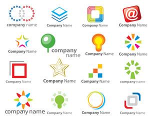Set of 16 vector business vector logos