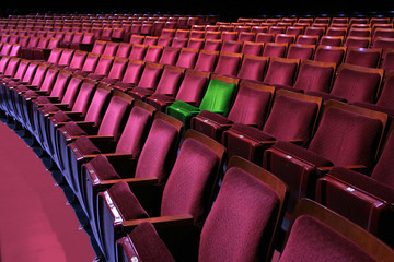 Theatrical seating and your seat stands out from the crowd