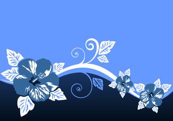 Foto op Aluminium Hemel blue floral pattern