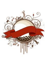 Grunge Golf Banner