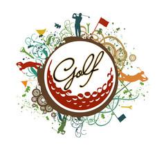 Grunge Golf Icon