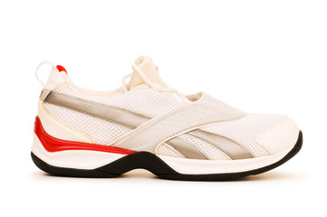 Sporty shoe isolated on the white background