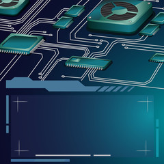 abstract motherboard vector circuit background