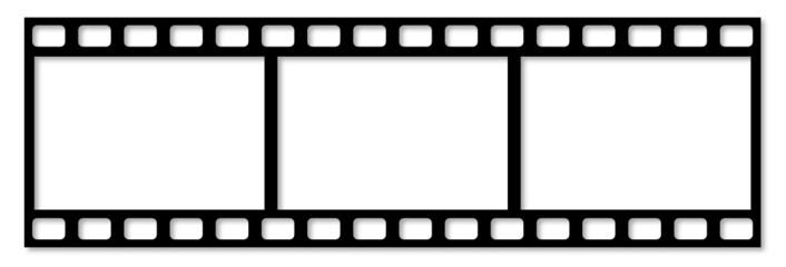 Filmstreifen (10x15 Felder für Bilder)