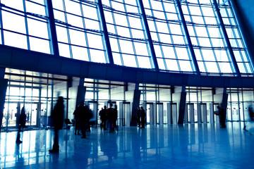 Wide blue enter hall