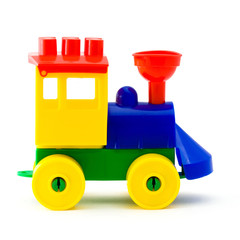 Plastic toy  locomotive