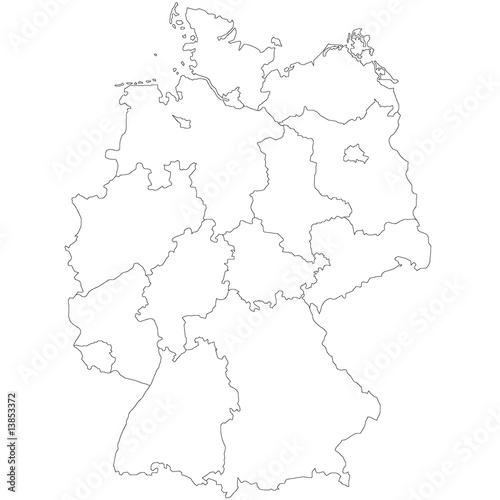 deutschlandkarte stockfotos und lizenzfreie vektoren auf bild 13853372. Black Bedroom Furniture Sets. Home Design Ideas