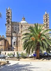 La pose en embrasure Palerme Italien, Sizilien, Palermo, Kathedrale