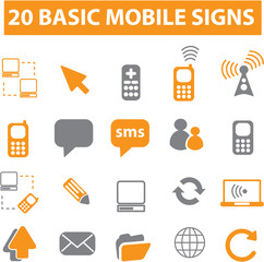 20 basic mobile signs
