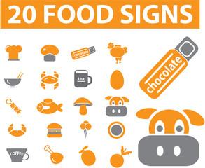 20 food signs