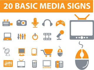 20 media signs