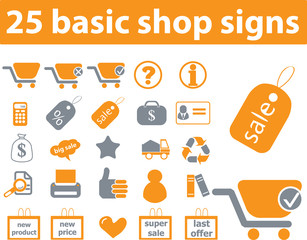 25 basic shop signs