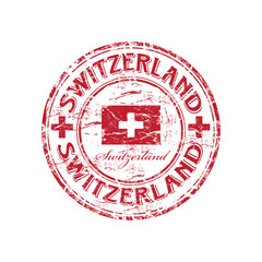 Switzerland grunge rubber stamp
