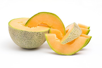 fresh orange melon
