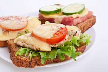 chicken and ham sandwiches