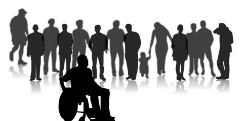 Gruppe - Rollstuhlfahrer