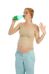 Pregnant woman drink water