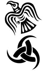Set of two viking symbols