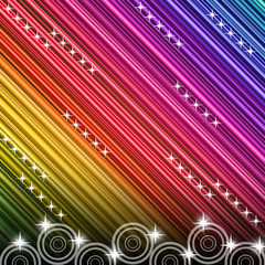 Rainbow and stars background
