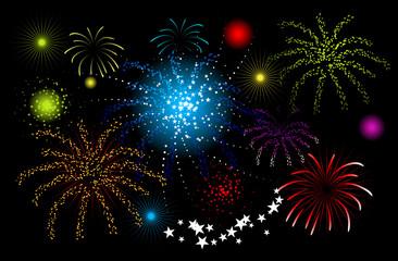 Fireworks, holiday night